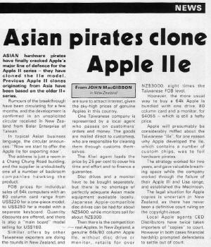 Apple User July 1985 Asian Apple IIe clone story